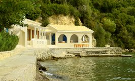 Ipsos Beach apartment in Corfu Stock Image