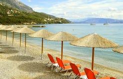 Ipsos Beach em Corfu fotografia de stock royalty free