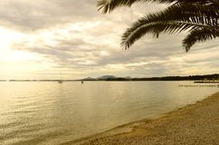 Ipsos Beach en Corfú Foto de archivo