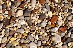Ipsos Pebble海滩在科孚岛 库存图片