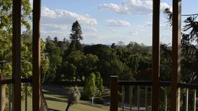 Ipswich, Australia - Thursday 29th November 2018: View from Lions Lookout in Queens Park of Ipswich City CBD and parklands stock footage