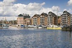 Ipswich marina Stock Image