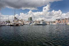 Ipswich marina. Ipswich Waterfront, Suffolk, United Kingdom Stock Photography