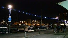 Ipswich at night stock video