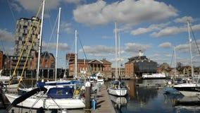 Ipswich town dock stock video