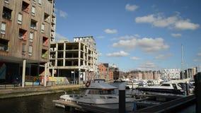 Ipswich town marina stock footage