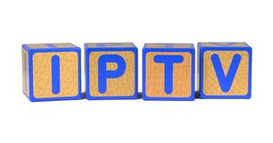 IPTV - Colored Childrens Alphabet Blocks. Royalty Free Stock Images