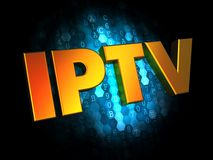 IPTV Concept on Digital Background. Stock Photography