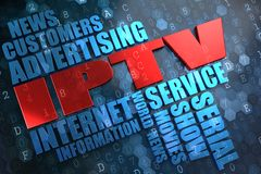 IPTV. Wordcloud Concept. Royalty Free Stock Photography
