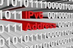 IPv6 adres royalty ilustracja