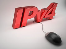 Ipv4 internet protocol concept Stock Photography