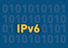IPV6. Illustration background of the new internet protocol ipv6 Royalty Free Stock Image