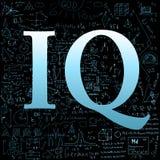 IQ över skola klottrar bakgrund Royaltyfri Bild
