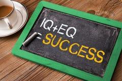 IQ плюс успех равного EQ Стоковое Изображение
