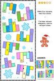 IQ тренируя абстрактную головоломку слова, зимние отдыхи тематические Стоковая Фотография