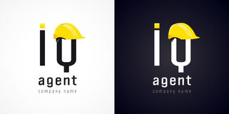IQ agent vector logo. Stock Photography