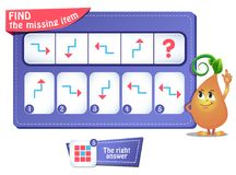 Iq comes next arrow. Educational game for kids and adults development of logic, iq. Task game for children  what comes next Stock Photos