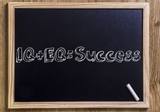 IQ, EQ, sukces + = Obrazy Royalty Free