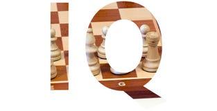 IQ in het symbool Royalty-vrije Stock Afbeelding