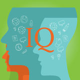 IQ intellectual quotient intelligence Stock Photo