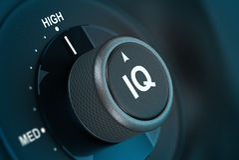 IQ, Intelligence Quotient Test Stock Photo
