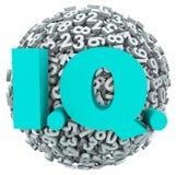 IQ Intelligence Quotient Test Score Numbers Level Stock Image