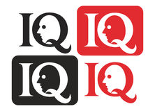 Iq logo. Isolated on white background Royalty Free Stock Photos