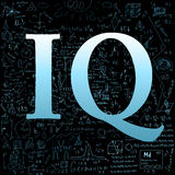IQ over school doodles background Royalty Free Stock Image