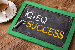IQ plus EQ equal success Stock Image