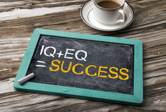 IQ plus EQ equal success Royalty Free Stock Photo