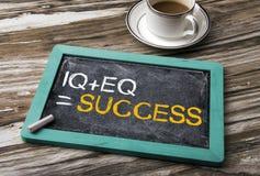 IQ plus EQ equal success Royalty Free Stock Photo