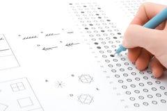 IQ-Prüfung Stockfoto