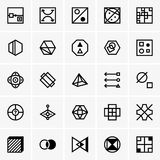 IQ test icons Royalty Free Stock Photos