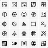 IQ test icons Royalty Free Stock Photos