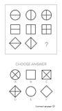 IQ-Test wählen Antwort vektor abbildung