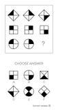 IQ-Test wählen korrekte Antwort stock abbildung