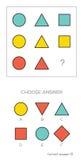 IQ-Test wählen korrekte Antwort vektor abbildung