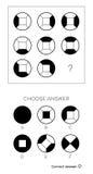 IQ test Wybiera odpowiedź ilustracja wektor