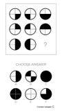 IQ test Wybiera odpowiedź royalty ilustracja