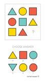 IQ test Wybiera odpowiedź ilustracji