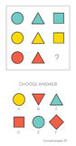 IQ test Wybiera poprawną odpowiedź ilustracja wektor