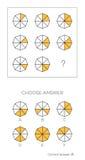 IQ test Wybiera poprawną odpowiedź royalty ilustracja