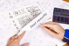 IQ-Testergebnisse Stockfoto