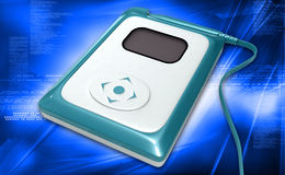 IQholter Recorder. Digital illustration of IQholter Recorder in colour background royalty free stock photos