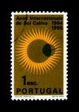 IQSY-Kenteken, Internationale Jaren van de Stille Zon serie, circa 1964 Royalty-vrije Stock Afbeeldingen