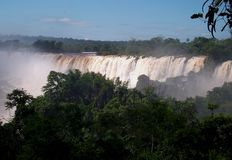 Iquazu falls waterfall  Argentina nacional park Stock Image