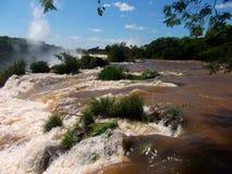 Iquazu falls waterfall  Argentina nacional park Royalty Free Stock Photos