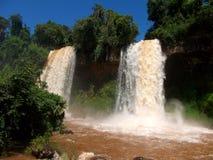 Iquazu falls waterfall  Argentina nacional park Stock Photos