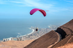 Iquique behind a huge dune, Atacama Desert, Chile Royalty Free Stock Photos
