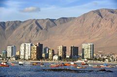 Iquique za ogromną diuną, północny Chile zdjęcie stock